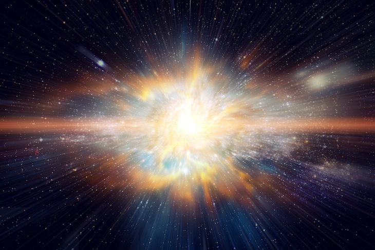 Burst of MultiColored light in black universe